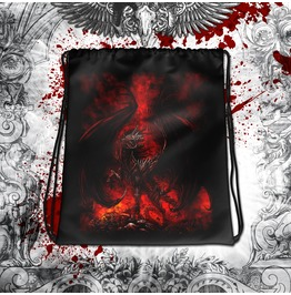 Devils Horse Drawstring Bag