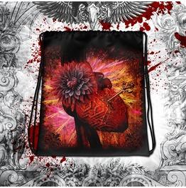 Gothic Heart, Lock And Key Drawstring Bag