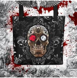 Goth Fiesta Sugar Skull Tote Bag