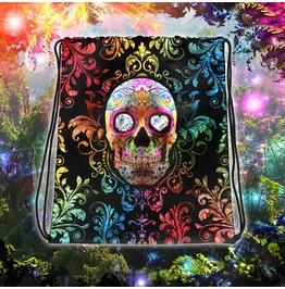 Day Of The Dead Sugar Skull Fiesta Drawstring Bag