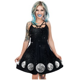 Phases Of The Moon Occult Star Skater Dress