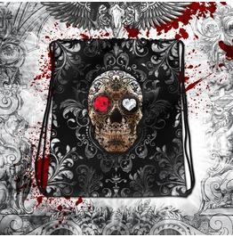 Goth Fiesta Sugar Skull Drawstring Bag