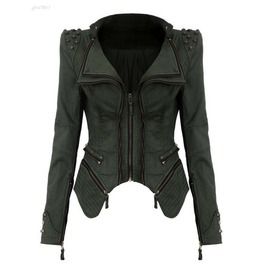 Punk Spike Cropped Vintage Women Jacket