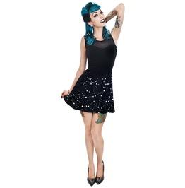 Stars & Moon Evelyn Mini Skater Dress Goth