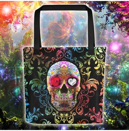 Day Of The Dead Sugar Skull Fiesta Tote Bag