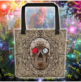 Cream Sugar Skull Tote Bag