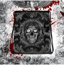 Dark Gothic Sugar Skull Drawstring Bag