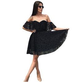 Sexy Women's Off Shoulder Slash Neck Dress