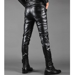 Punk Rock Strings Leather Men Pant