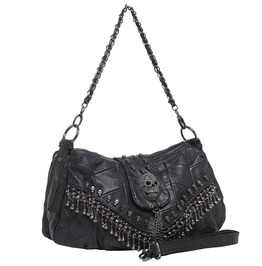 Skull Crossbody Bag Biker Purse Accessories Handbag