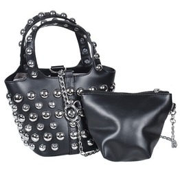 Chain Mother Child Bucket Bag Women Pu Leather Crossbody Bag