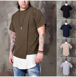 Unbalanced Cover T Shirts 843