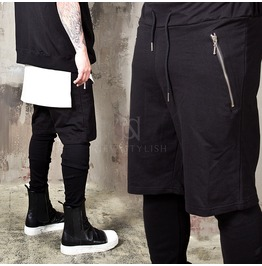 Leggings Attached Short Sweatpants 290