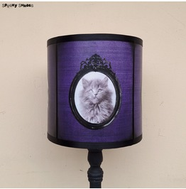 Purple Gothic Kitten Table Lamp Shade Lampshade