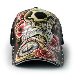 Skull Tattoo Baseball Men Hat Cap