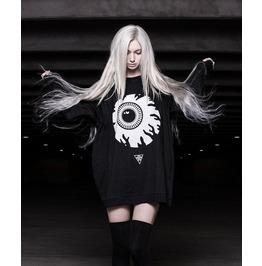 Harajuku Big Eye Black Punk Women Hoodies Sweatshirt