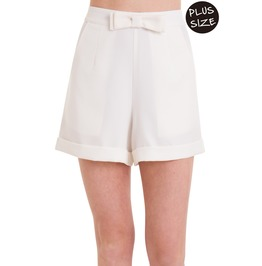 Banned Apparel White Betsy Short Plus Size