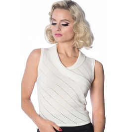 Banned Apparel It's A Wrap Pointelle Knit Top