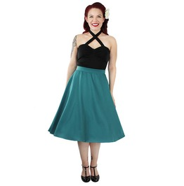 Flowy Teal Skirt With Pockets