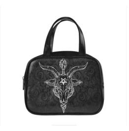 Black Phillip Baphomet Damask Handbag