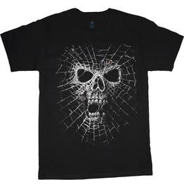 Spider Web Skull Men T Shirt