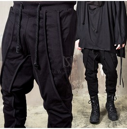 Multiple Hem Line Rope Baggy Sweatpants 291