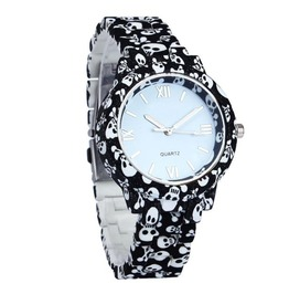 Skull Prints Ceramic Style Watch