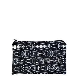 Witchy Coffins Zipper Makeup Bag