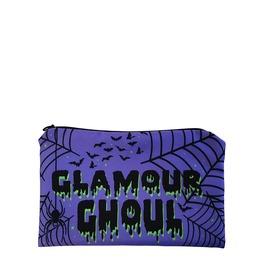 Glamour Ghoul Bats & Webs Zipper Makeup Bag