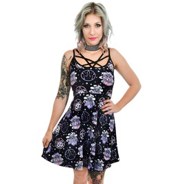 Baby Baphomet & Black Cats Occult Star Skater Dress