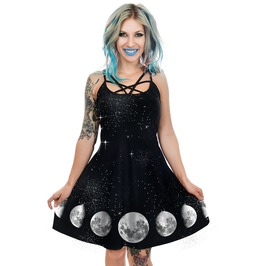 Phases Of The Moon Occult Star Skater Dress