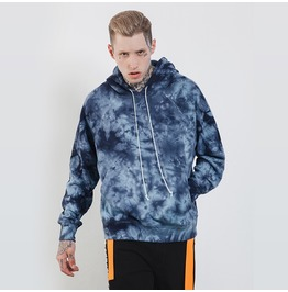Men's Fashion Starry Sky Tie Dyed Printed Oversize Hoodies