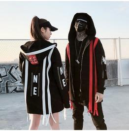 Rebelsmarket new arrival couple hip hop streetwear zip up hoodies  hoodies and sweatshirts 9