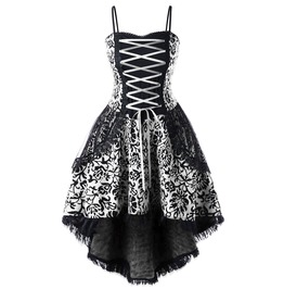 Gothic Vintage Corset Plus Size Women Dress