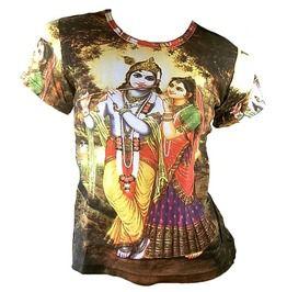 5ff7a37a4067 Krishna Radha Karma Hindu Tattoo Goa Beach T Shirt M