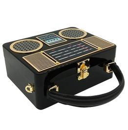 Retro Women's Radio Case Clutch Bag