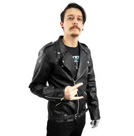 Dr. Frankenstein Black Vegan Biker Jacket