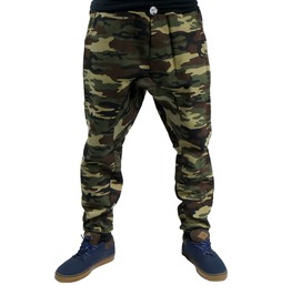 Green Camo Harem Parachute Mc Hammer Pants