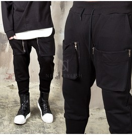 Both Side Zipper Cargo Pocket Sweatpants 292