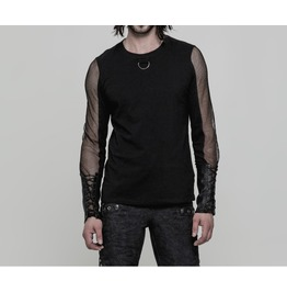 Punk Style Transparent Long Sleeve Top