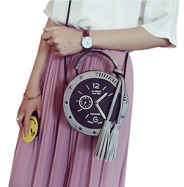 Trendy Women's Clock Design Shoulder Bag