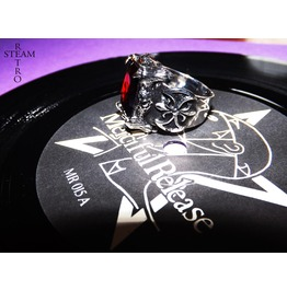Merciful Release Gothic Ruby Ring