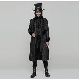 Punk Rave Gothic Victorian Gorgeous Long Coat For Men Wy 874