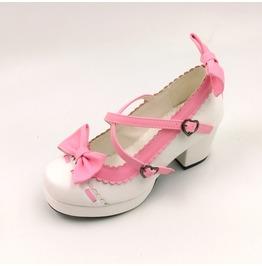 Kawaii Lolita Hearts & Bows Women Heels Shoes