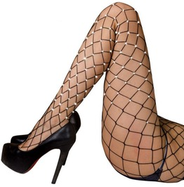 2 Colors Crystal Rhinestones Fishnet Pantyhose Hosiery