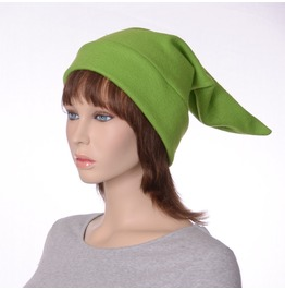 Elf Hat Brilliant Green Colored Pointed Cap Made Of Fleece