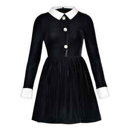 Gothic Vintage Velvet Alien A Line Women Dress