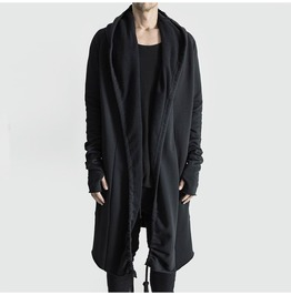 Men's Warm Trench Coat Jacket Cardigan Outwear Long Capes Cloak
