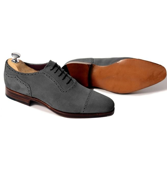 655e443c77483 Handmade Men Dark Gray Oxford Shoes, Men Suede Leather Shoes, Men Shoes