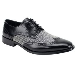 Handmade mens formal shoes men two tone wing tip dress shoes men shoes dress shoes